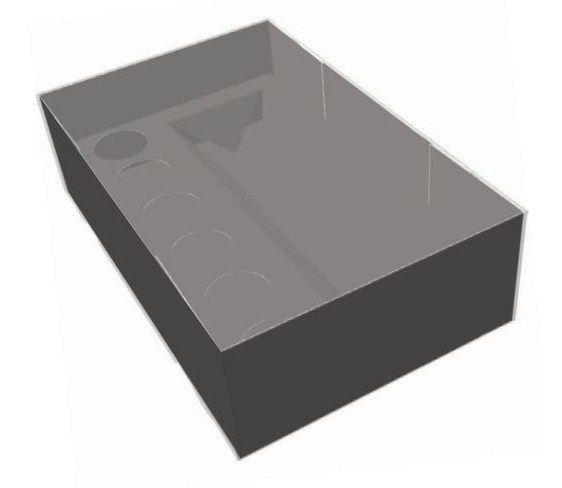 Caixa com Tampa Transparente Garrafa ou Lata e Docinho Preta Ref.2684 - 10 unidades - Rizzo Confeitaria