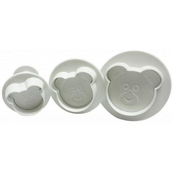 Ejetor Urso - 3 pçs - Cod.GMEZN109 - Prime Chef - Rizzo Confeitaria