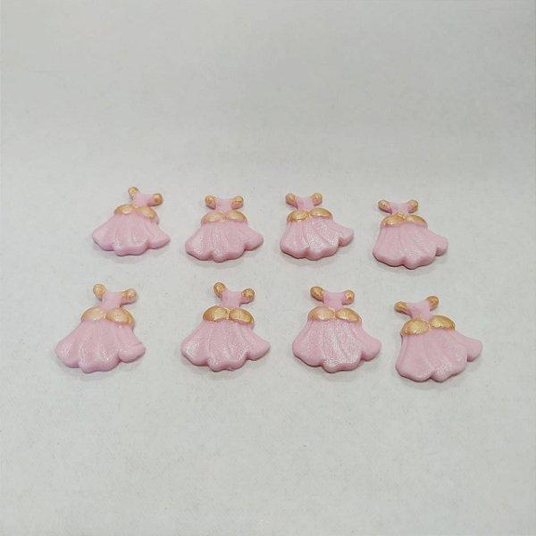 Confeitos Comestíveis Vestido Princesa Rosa - Flores e Encantos de Açúcar - Rizzo Confeitaria