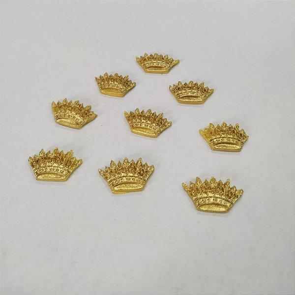Confeitos Comestíveis Coroa Princesa Dourada - Flores e Encantos de Açúcar - Rizzo Confeitaria