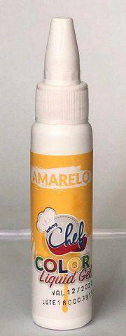 Corante Liquid Gel - Amarelo - 25g - Iceberg - Rizzo Confeitaria