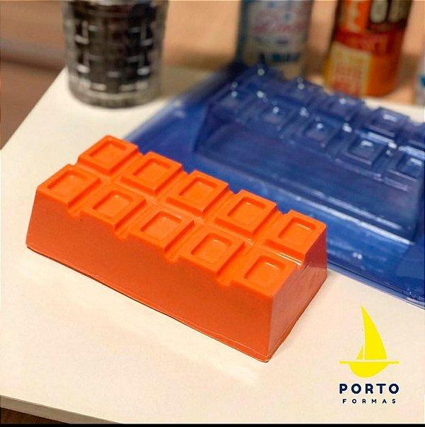 Forma Especial Barra quadradinha dupla  - Cod: 66 Porto Formas Rizzo Confeitaria