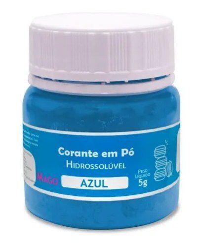 Corante em pó Hidrossolúvel - Azul - 5g - Mago - Rizzo Confeitaria