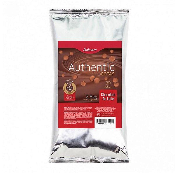Chocolate Authentic Ao Leite Gotas 2,5KG - Salware - Rizzo Confeitaria