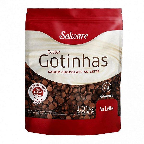 Gotinhas sabor Chocolate ao Leite 1,01KG - Salware - Rizzo Confeitaria