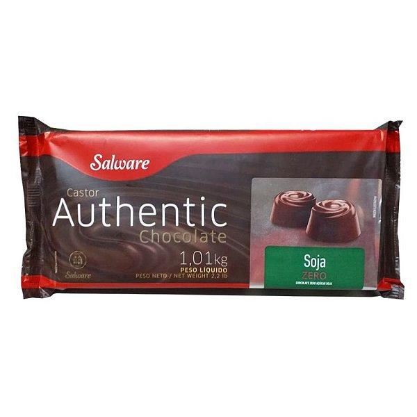 Chocolate Authentic Zero Açúcar Soja 1,01KG - Salware