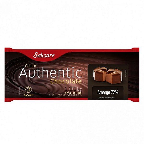 Chocolate Authentic Amargo 72% 1,01KG - Salware - Rizzo Confeitaria