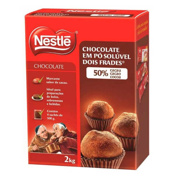 Chocolate em pó 50% Cacau 2kg - Nestlé - Rizzo Confeitaria