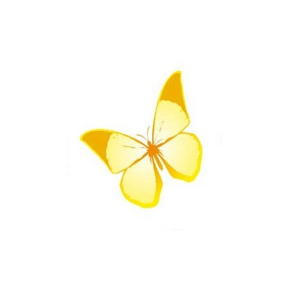 Aplique Borboleta Papel Arroz Amarela Mod.2 - Rizzo Confeitaria