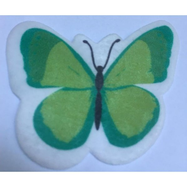 Aplique Borboleta Papel Arroz Verde Mod.2 - Rizzo Confeitaria