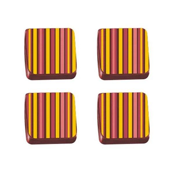 Transfer para Chocolate Listra - TRG 8034 03 - Stalden - Rizzo Confeitaria
