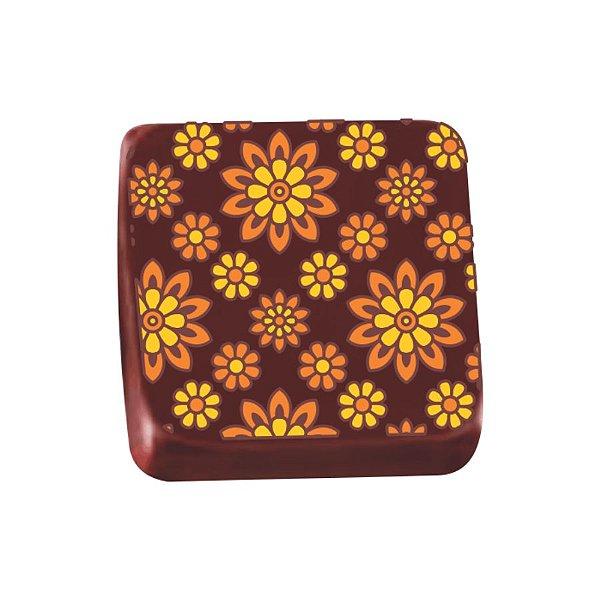 Transfer para Chocolate Girassol - TRG 8069 04 - Stalden - Rizzo Confeitaria