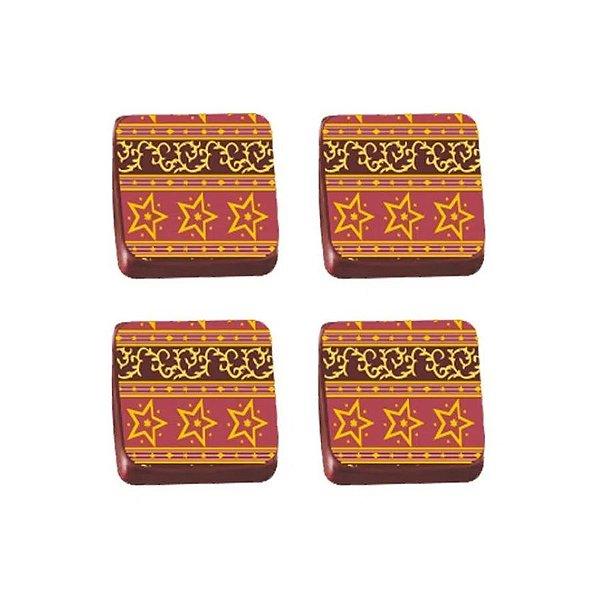 Transfer para Chocolate Estrela VM - TRG 8030 03 - Stalden - Rizzo Confeitaria