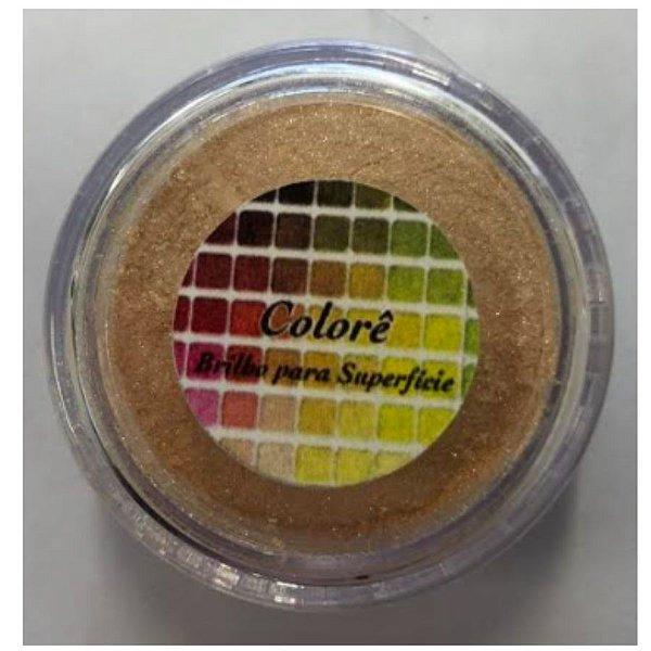 Pó para decoração, Brilho para superficie Colorê Arco Irís Laranja - 2g LullyCandy Rizzo Confeitaria