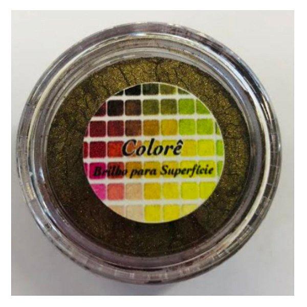 Pó para decoração, Brilho para superficie Colorê Ilusão Café - 2g LullyCandy Rizzo Confeitaria