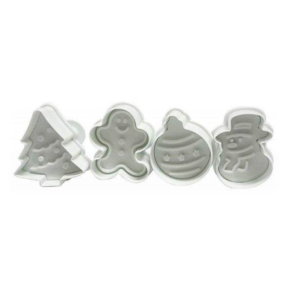 Ejetor de Natal - 4 peças - Cod.GMEZN81 - Prime Chef - Rizzo Confeitaria