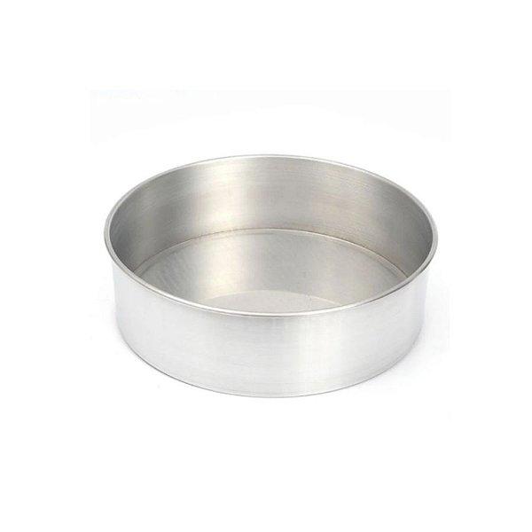 Forma Redonda Reta Fundo fixo de alumínio - 1 un - 35x10 cm - GoldPan Formas