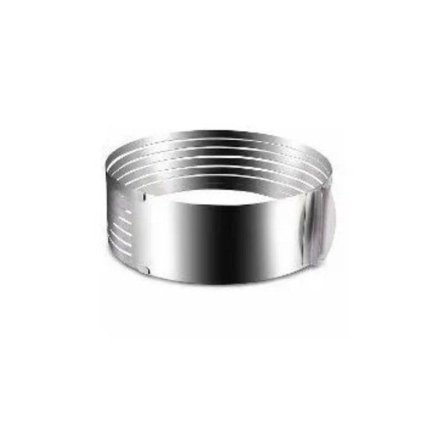 Aro Redondo de Camadas Regulável de Inox - 1 un - 10 cm - GoldPan Formas