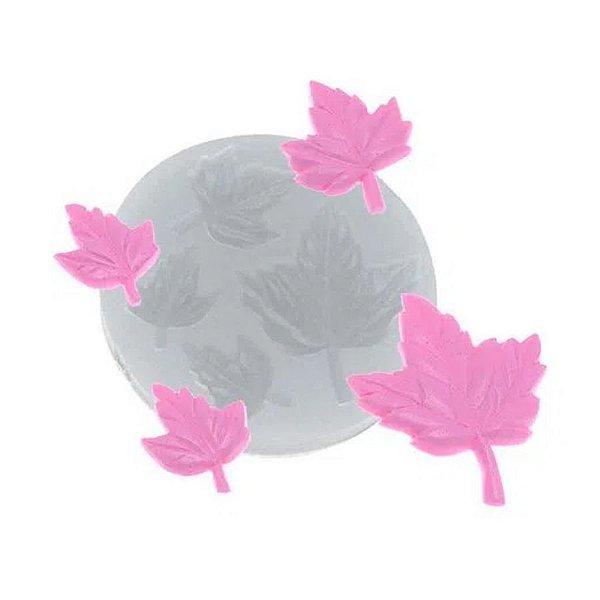 Molde de Silicone Quarteto de folhas Ref. 404 Flexarte Rizzo Confeitaria