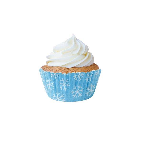 Forminha Mini CupCake Flocos de Neve com 45 un. Cod. 6825 Mago