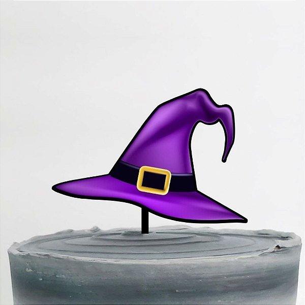 Topo de Bolo Chapéu de Bruxa Glitter Sonho Fino Rizzo Confeitaria
