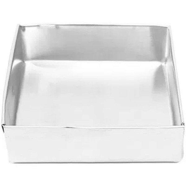 Forma Quadrada  Fundo fixo de alumínio - 1 un - 25x10 cm - GoldPan Formas