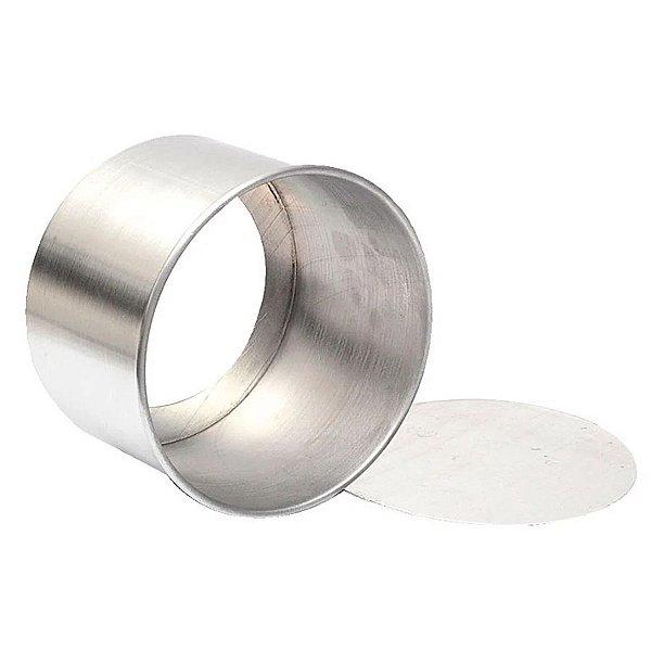 Forma Redonda Fundo Falso de alumínio - 1 un - 15x10 cm - GoldPan Formas