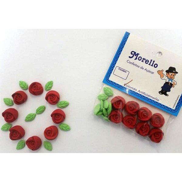 Flor Botão Vermelho - Morello - Rizzo Confeitaria