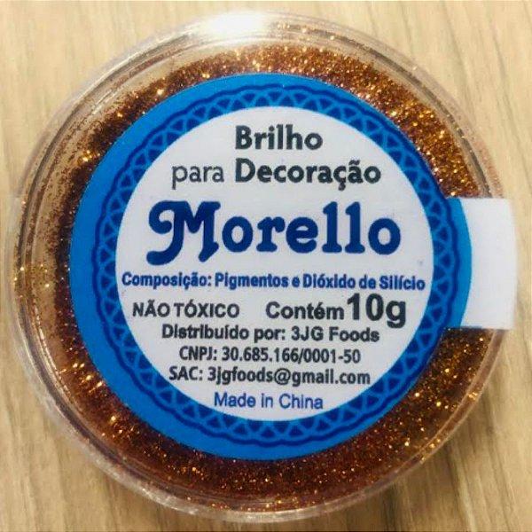 Pó para Decoração - Brilho Bronze - Morello - 10g - Rizzo Confeitaria
