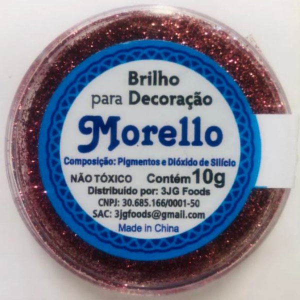 Pó para Decoração - Brilho Rosa Claro - Morello - 10g - Rizzo Confeitaria