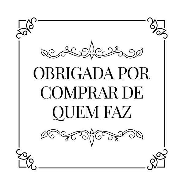 Carimbo Artesanal Obrigada por Comprar de quem Faz - Cod.RI-057 - Rizzo Confeitaria
