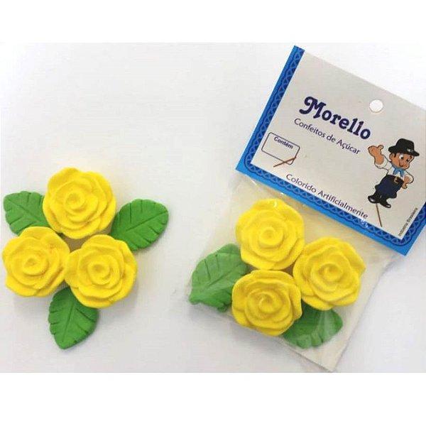 Flor Grande Amarela - Morello - Rizzo Confeitaria