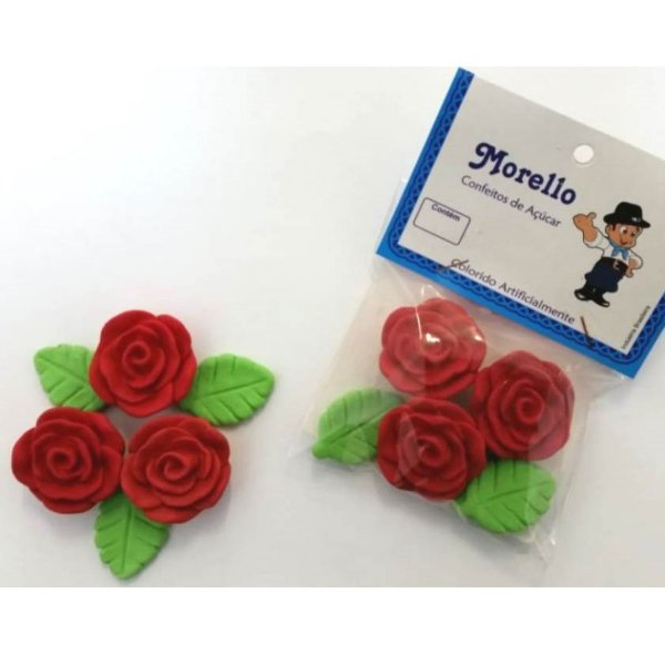 Flor Grande Vermelha - Morello - Rizzo Confeitaria