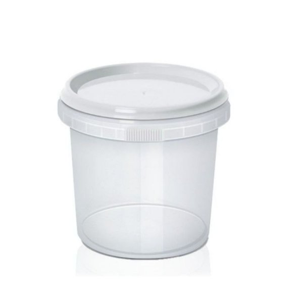 Pote com Lacre Redondo 500ml - WS Plásticos Rizzo Confeitaria