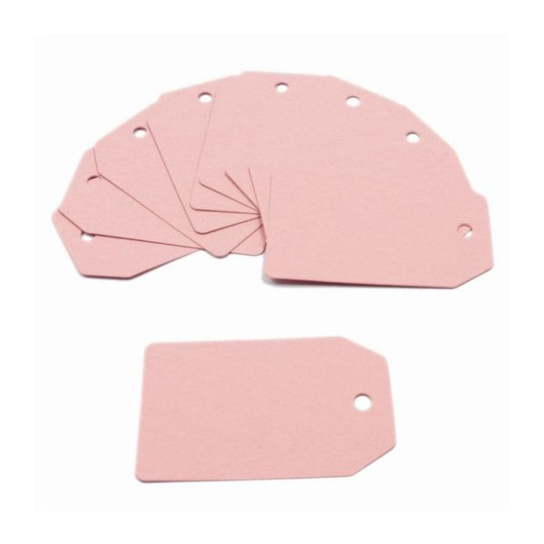 Tag de papel Rosa 10u - Rizzo Confeitaria