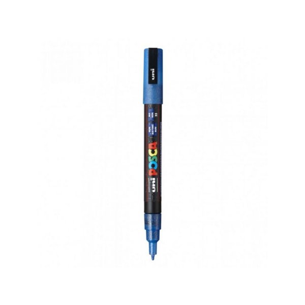 Caneta Posca PC-3ML 1,3mm Azul Glitter - 01 unidade - Uni Posca