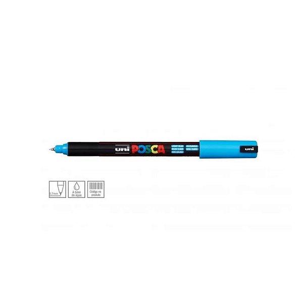 Caneta Posca PC-1MR 0,7mm Azul Claro - 01 unidade - Uni Posca