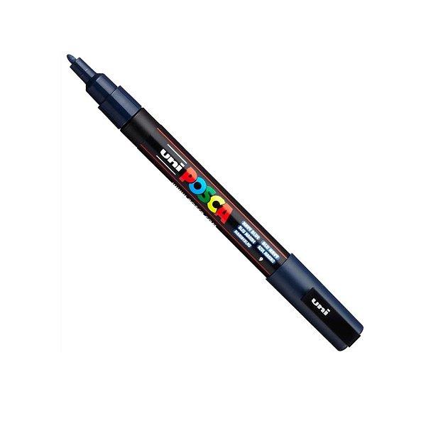Caneta Posca PC-3M 1,3mm Azul Marinho - 01 unidade - Uni Posca