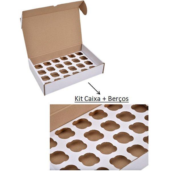Caixa para Transporte 25 Cupcakes com berço 40x40x12 cm - Niagara