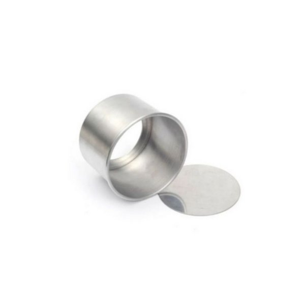 Forma Redonda Reta Fundo falso de alumínio - 1 un - 15x8 cm - GoldPan Formas