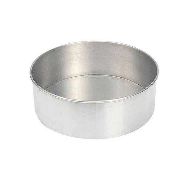 Forma Redonda Reta Fundo fixo de alumínio - 1 un - 25x8 cm - GoldPan Formas