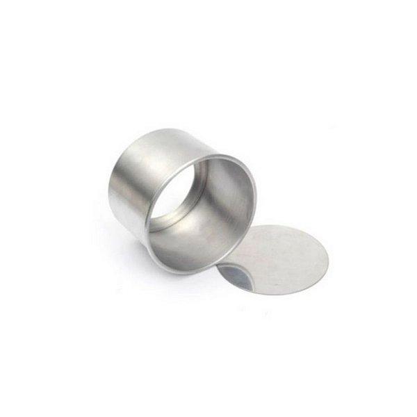 Forma Redonda Reta Fundo falso de alumínio - 1 un - 10x8 cm - GoldPan Formas