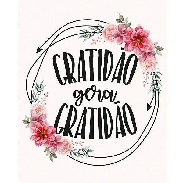 Placa Decorativa em MDF - Gratidão Gera Gratidão - DHPM-483 -  LitoArte Rizzo Confeitaria