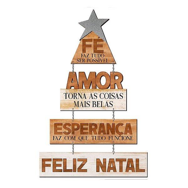 Placa Decorativa em MDF - Decor Home Natal - Fé Faz Tudo Ser Possível- DHN-035 - LitoArte Rizzo Confeitaria