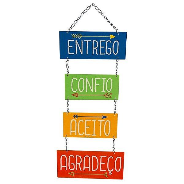 Placa Decorativa em MDF - Entrego, Confio - DHPM5-242 - LitoArte Rizzo Confeitaria