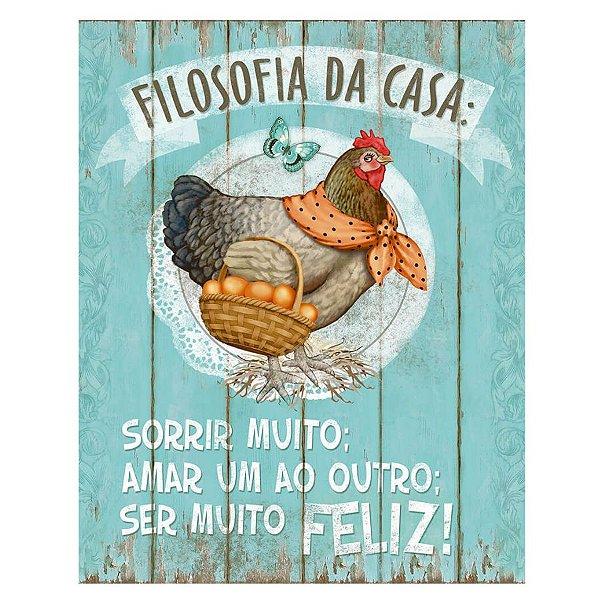 Placa Decorativa em MDF - Filosofia da Casa - DHPM-001 - LitoArte Rizzo Confeitaria