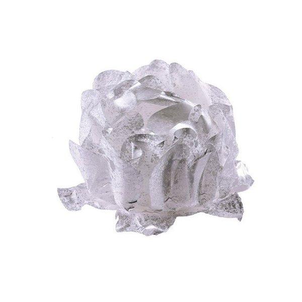 Forminha para Doces Finos - Rosa Maior Prata/Prata - 40 unidades - Decora Doces - Rizzo