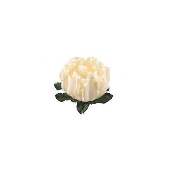Forminha para Doces Finos - Rosa Maior Marfim 40 unidades - Decora Doces - Rizzo
