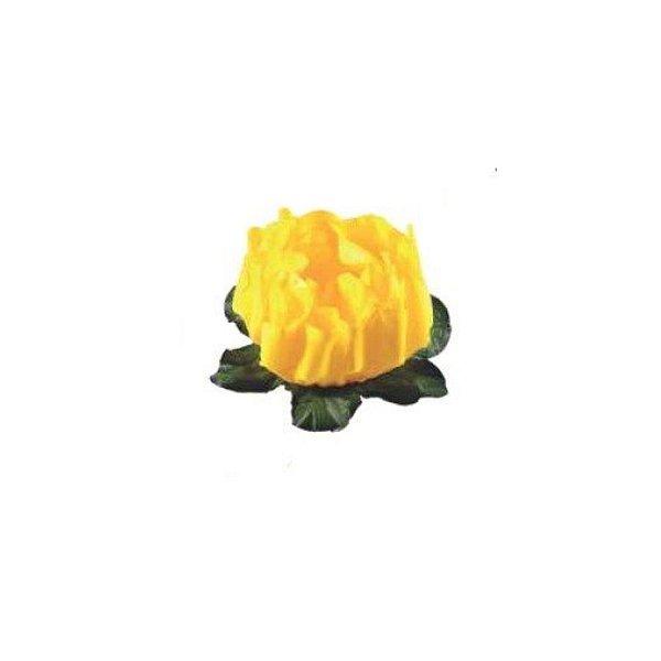 Forminha para Doces Finos - Rosa Maior Amarelo Vivo 40 unidades - Decora Doces - Rizzo