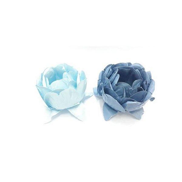 Forminha para Doces Finos - Bela Duo Azul Bebê e Azul Chumbo - 20 unidades - Decora Doces - Rizzo